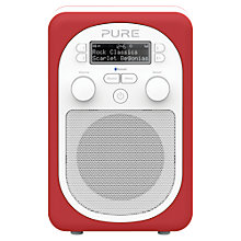 Buy Pure Evoke D2 Mio DAB/FM Bluetooth Portable Digital Radio, Scarlet + D1 ChargePAK Online at johnlewis.com