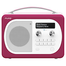 Buy Pure Evoke D4 Mio DAB/FM Bluetooth Radio, Raspberry + F1 ChargePAK Online at johnlewis.com