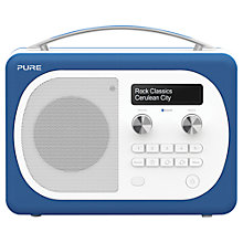 Buy Pure Evoke D4 Mio DAB/FM Bluetooth Radio, Cerulean + F1 ChargePAK Online at johnlewis.com
