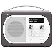 Buy Pure Evoke D4 Mio DAB/FM Bluetooth Radio, Pewter + F1 ChargePAK Online at johnlewis.com