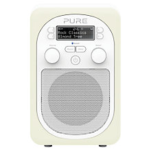 Buy Pure Evoke D2 Mio DAB/FM Bluetooth Portable Digital Radio, Almond + D1 ChargePAK Online at johnlewis.com