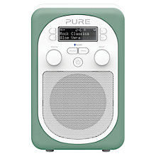 Buy Pure Evoke D2 Mio DAB/FM Bluetooth Portable Digital Radio, Aloe + D1 ChargePAK Online at johnlewis.com