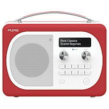 Buy Pure Evoke D4 Mio DAB/FM Bluetooth Radio, Scarlet + F1 ChargePAK Online at johnlewis.com
