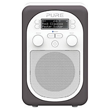 Buy Pure Evoke D2 Mio DAB/FM Bluetooth Portable Digital Radio, Pewter + D1 ChargePAK Online at johnlewis.com
