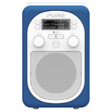 Buy Pure Evoke D2 Mio DAB/FM Bluetooth Portable Digital Radio, Cerulean + D1 ChargePAK Online at johnlewis.com