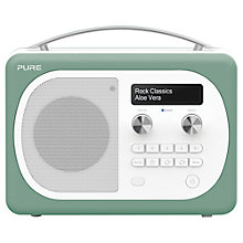 Buy Pure Evoke D4 Mio DAB/FM Bluetooth Radio, Aloe + F1 ChargePAK Online at johnlewis.com