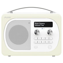 Buy Pure Evoke D4 Mio DAB/FM Bluetooth Radio, Almond + F1 ChargePAK Online at johnlewis.com
