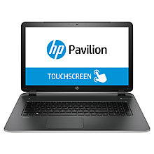 "Buy HP Pavilion 17-f002na Laptop, Intel Core i3, 8GB RAM, 1TB, 17.3"" Touch Screen, Silver Online at johnlewis.com"