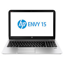 "Buy HP Envy 15-j140sa Laptop, Intel Core i5, 8GB RAM, 1TB, 15.6"", Natural Silver + Microsoft Office 365 Personal Online at johnlewis.com"
