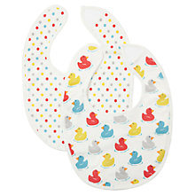 Buy Cath Kidston Rubber Duck Bibs, Pack of 2, Cream Online at johnlewis.com