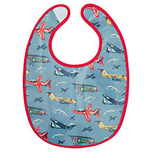 Buy Cath Kidston Plane Baby Bib, Blue Online at johnlewis.com