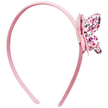Buy John Lewis Butterfly Alice Band, Pink Online at johnlewis.com