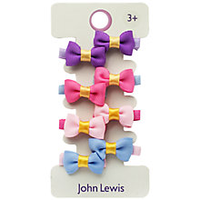 Buy John Lewis Mini Grosgrain Bow Hair Clips, Pack of 8, Multi Online at johnlewis.com
