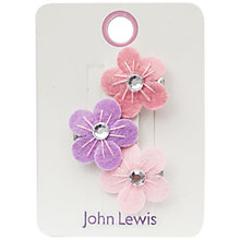 Buy John Lewis Felt Flower Hair Clips, Pack of 3, Pink/Lilac Online at johnlewis.com
