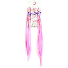 Buy John Lewis Faux Hair Bird Hair Clips, Pack of 6, Pink Online at johnlewis.com