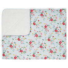 Buy Cath Kidston Clifton Rose Pram Baby Blanket, Blue Online at johnlewis.com