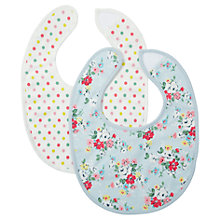Buy Cath Kidston Clifton Rose Baby Bibs, Pack of 2, Blue Online at johnlewis.com