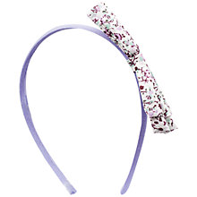 Buy John Lewis Bow Alice Band, Lilac Online at johnlewis.com