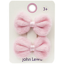 Buy John Lewis Fluffy Bows, Pack of 2, Pink Online at johnlewis.com