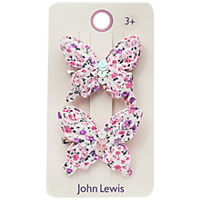 Buy John Lewis Fabric Butterfly Hair Clips, Pack of 2, Multi Online at johnlewis.com
