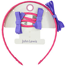 Buy John Lewis Contrast Colour Bow Hairset, Multi Online at johnlewis.com