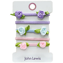 Buy John Lewis Flower Applique Hair Ties, Pack of 4, Multi Online at johnlewis.com