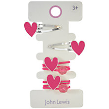 Buy John Lewis Heart Hairset, Pink Online at johnlewis.com