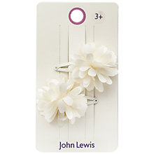 Buy John Lewis Flower Hair Clips, Pink Online at johnlewis.com