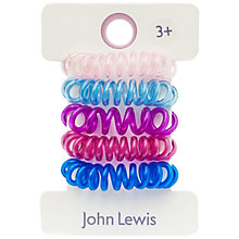 Buy John Lewis Spiral Elastics Hair-set, A Pack of 4, Multi Online at johnlewis.com