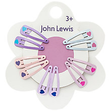 Buy John Lewis Mini Heart Hair Clips, Pack of 10, Multi Online at johnlewis.com