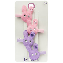 Buy John Lewis Bunny Hair Clips, Pack of 4, Pink/Lilac Online at johnlewis.com