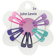 Buy John Lewis Mini Glitter Hair Clips, Pack of 10, Multi Online at johnlewis.com