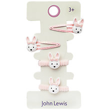 Buy John Lewis Bunny Hair Set, Pack of 4, Pink Online at johnlewis.com