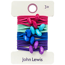 Buy John Lewis Girl Heart Hair Elastics Online at johnlewis.com