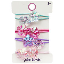 Buy John Lewis Double Flower Hair Ties, Pack of 4, Multi Online at johnlewis.com