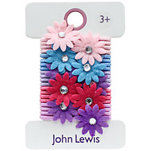 Buy John Lewis Mini Flower Elastic Hairbands, Multi Online at johnlewis.com