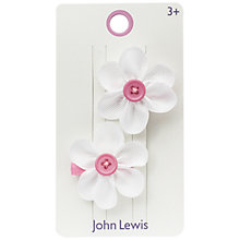 Buy John Lewis Daisy Hair Clips, Pack of 2 Online at johnlewis.com