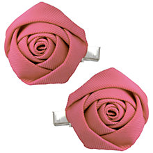 Buy John Lewis Girl Rose Hair Clips, Pack of 2, Pink Online at johnlewis.com