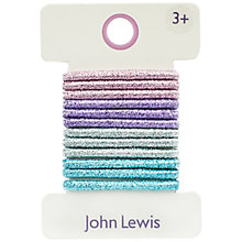 Buy John Lewis Glitter Hair Ties, Pack of 12, Multi Online at johnlewis.com