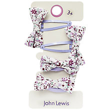 Buy John Lewis Bow Hair Set, Pack of 4, Lilac Online at johnlewis.com