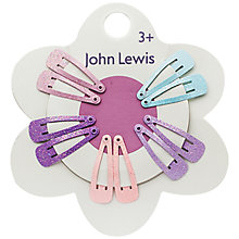Buy John Lewis Mini Glittered Hair Clips, Pack of 10, Multi Online at johnlewis.com