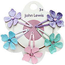 Buy John Lewis Flower Hair Clips, Pack of 5, Multi Online at johnlewis.com