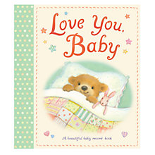 Buy Love You Baby Record Book Online at johnlewis.com