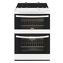 Buy Zanussi ZCV66000WA Electric Cooker, White Online at johnlewis.com