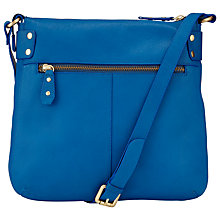 Buy John Lewis Carlyle Large Leather Across Body Bag, Royal Blue Online at johnlewis.com