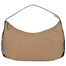 Buy Kin by John Lewis Caylia Leather Shoulder Bag, Taupe Online at johnlewis.com