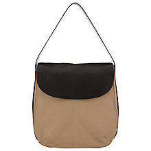 Buy Kin by John Lewis Kali Leather Shoulder Bag, Taupe Online at johnlewis.com