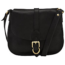 Buy John Lewis Ashley Leather Across Body Bag, Black Online at johnlewis.com