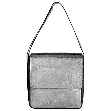 Buy Kin by John Lewis Mattie Square Leather Shoulder Bag, Silver Online at johnlewis.com