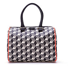 Buy Paul's Boutique Molly Art Bowling Bag, Navy/Black Online at johnlewis.com